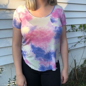 Pink and Purple Tye Dye T-Shirt